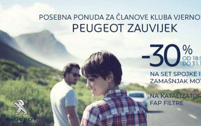 Peugeot jesenska akcija – 30% popusta na odabrane dijelove