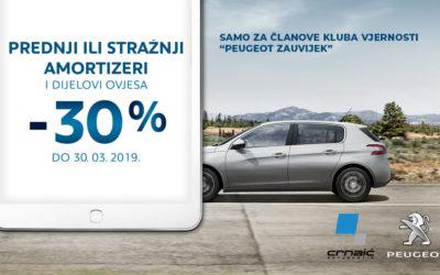 Peugeot akcija Ovjes i Amortizeri