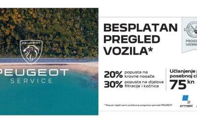 Peugeot ljetna akcija – filteri, kočnice, nosači + besplatan pregled vozila