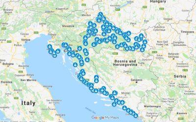 Lokacije nadzornih kamera na Google kartama
